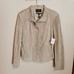 Suede Leather jacket size S bnwt